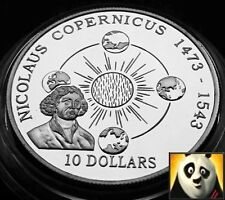1992 COOK ISLANDS $10 TEN DOLLARS NICOLAUS COPERNICUS SPACE SILVER PROOF COIN