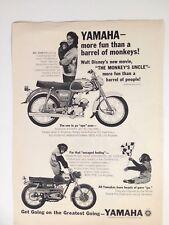 1965 Yamaha Rotary Jet 80 YG-1SK Motorcycle Vintage Original Print Ad