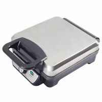 4-Piece Square Stainless Steel Waffle Maker Non-stick Baking Grids Breakfast New