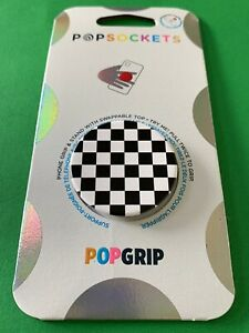 🏁Popsockets Popgrip - Checker Black - Cell Phone Holder & Stand🏁