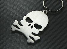SKULL Crossbones Pirate Goth Emo Keyring Keychain Key Fob Bespoke Steel Gift