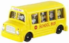 Takara Tomy Dream Tomica 203 Snoopy School Bus Animation Mini Car