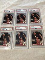 (6) 1990 Hoops Scottie Pippen Card #69 (6) PSA 8's NM-MT Investor Lot HOF Bulls