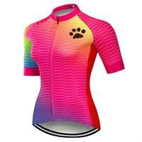2020 Women's Reflective Cycling Jersey Short Sleeve Biking Cycle Shirt Top S-5XL