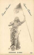 CARTE POSTALE FANTAISIE FIGURE HISTORIQUE JEANNE D'ARC SOYONS CHRETIENS
