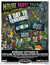 A DAY TO REMEMBER/ALL TIME LOW/PIERCE THE VEIL 2013 PORTLAND CONCERT TOUR POSTER