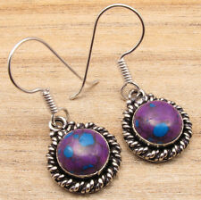 Plated Purple Turquoise Earrings Nice Free Shipping on Additional Items!Silver