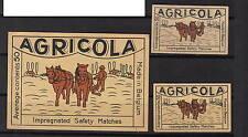 Ancienne    étiquette allumettes  Belgique  A943 Cheval  Agricole