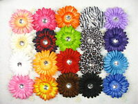 New Lot of 20pcs daisy flower holiday girl toddler baby hair bow clip