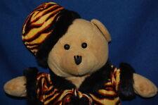 "Bear DOLL Jungle Print Leopard Fur Hat Boots 14"" Plush  Stuffed Animal Lovey Toy"