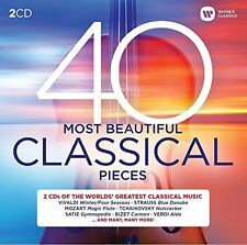 40 Most Beautiful Classical Pieces 2 CD Mozart Verdi Bach Tchaikovsky Revel+more