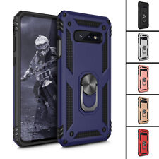 For Samsung Galaxy S10E Hybrid Hard Soft Ring Holder Shockproof Phone Case Cover