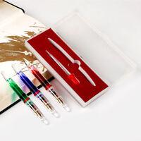 New W/ Gift Box High Capacity Extra Fine Nib Fountain Pen Transparent Moonman M2