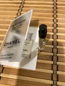 Chanel Platinum Egoiste pour Homme   Large Travel size spray vial EDT 2 ml