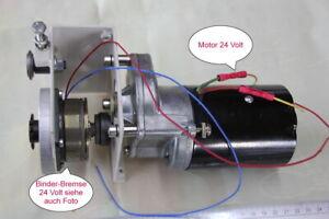 Getriebemotor 24 Volt mit Binder Elektrobremsen