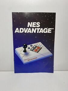 NES Advantage Joystick Nintendo Original Instruction Manual Booklet Only