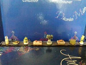 Série complète RARE 8 fèves l'olive ARGUYDAL sur réglette neuve
