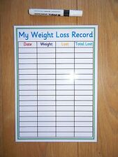 Weight Loss Record - A4 HOMEMADE Laminated Card - Slimming World/Weight Watchers