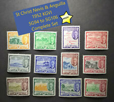 St Christopher Nevis & Anguilla KGVI 1952 SG94 to SG106 Complete Set MNH