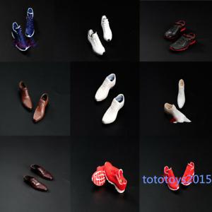 "1/6 Scale Men's Plastic Shoes Solid Shoes Model Fit 12"" Soldier Figure Body Toy"