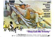 THEY CALL ME TRINITY movie poster TERENCE HILL western fun RELAXED 24X36