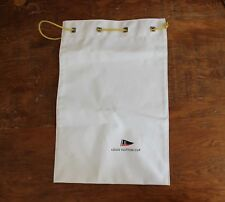 Authentic Louis Vuitton LV Cup White Drawstring Pouch Bag Coated Canvas Flag