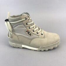 Fila Grunge Mid Grey Lace Up Leather Textile Hiking Walking Boots US7.5 UK6.5