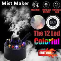 Halloween Mist Maker Smoke Fog Machine 12-LED Color Changing Party Festival Prop
