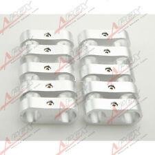 -4 AN AN 4 4 AN Billet Fuel Hose Separator Fittings Adapter Silver 10PCS