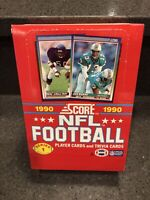 (1) 1990 Score NFL Football Series 1 Box (36 Packs) From A Sealed Case