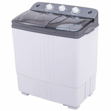 Portable Mini Compact Twin Tub 16Lbs Total Washing Machine Washer Spain Dryer