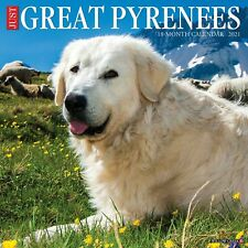 Just Great Pyrenees (dog breed cal) 2021 Wall Calendar (Free Shipping)