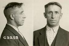 1926, ORIGINAL crime mugshot, PROHIBITION era, fireman, crime, CHICAGO police