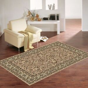 New Classic Traditional BCF Floor Rug Carpet Non Shedding Pile