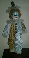 Scary Creepy custom repaint ooak haunted Clown Doll porcelain w/music box