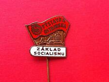 Very rarre pin badge - OSTRAVSKA CZECHOSLOVAKIA ZAKLAD SOCIALISMU !