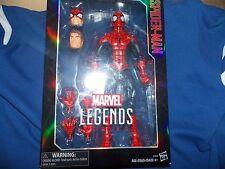 2-Marvel Legends 12 inch Hasbro Spiderman + Deadpool