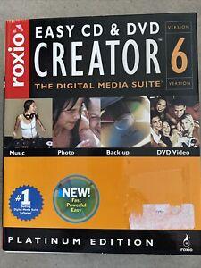 Roxio Easy CD & DVD Creator 6 Platinum Edition  FAST SHIP