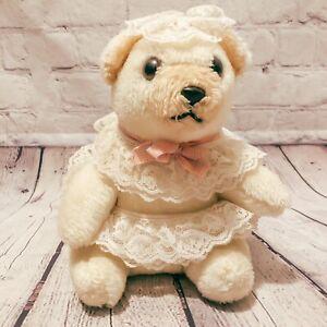 Vtg A & L Novelty Ivory Polar Teddy Bear Stuffed Animal Playland Plush Tutu 1981