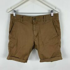 Industrie Mens Shorts Size 30 Tan Brown Chino Slim Fit With Pockets