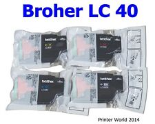 4PK Brother LC 40 Genuine Ink Cartridge Set / MFC-J430 432 5910 6510 6710 6910