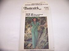 Butterick 4380 Sew & Go Misses' Semi-Fitted Jumpsuit Stretch Knits 10 UNCUT FF