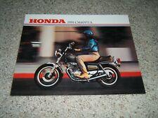 1981 Honda CM400T/A original vintage motorcycle brochure