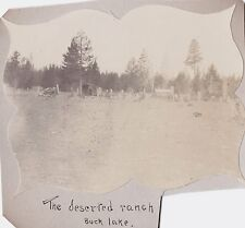 VINTAGE 1900 KLAMATH FALLS DESERTED RANCH OREGON BUCK LAKE MOUNT HOOD OLD PHOTO