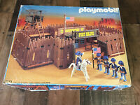 Playmobil 3773 Original Fort Bravo Vtg Box, Figures, Accessories Lot *INCOMPLETE
