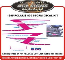1995 POLARIS INDY STORM 800 HOOD DECALS graphics reproduction