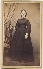 1860s CDV PHOTO CIVIL WAR TAX STAMP Attractive Lady in a Hoop Dress Syracuse NY