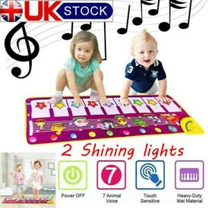 Baby Piano Mat Play Musical Toy Gift Kids Touch Learn Singing Keyboard Carpet