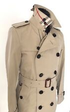 £1195 BNWT BURBERRY MENS HONEY MID LENGTH COTTON TRENCH COAT 46 UK 36 =SMALL