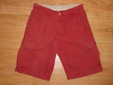 Men's Napapijri Geographic Red-Brown Multi Pocket Cotton Cargo Shorts Size 48
